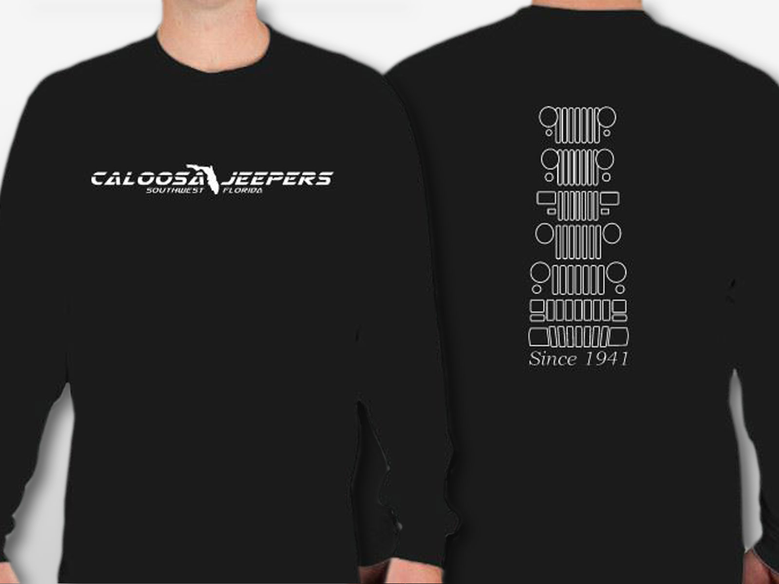 Caloosa Jeepers Grills Tshirt Long Sleeves