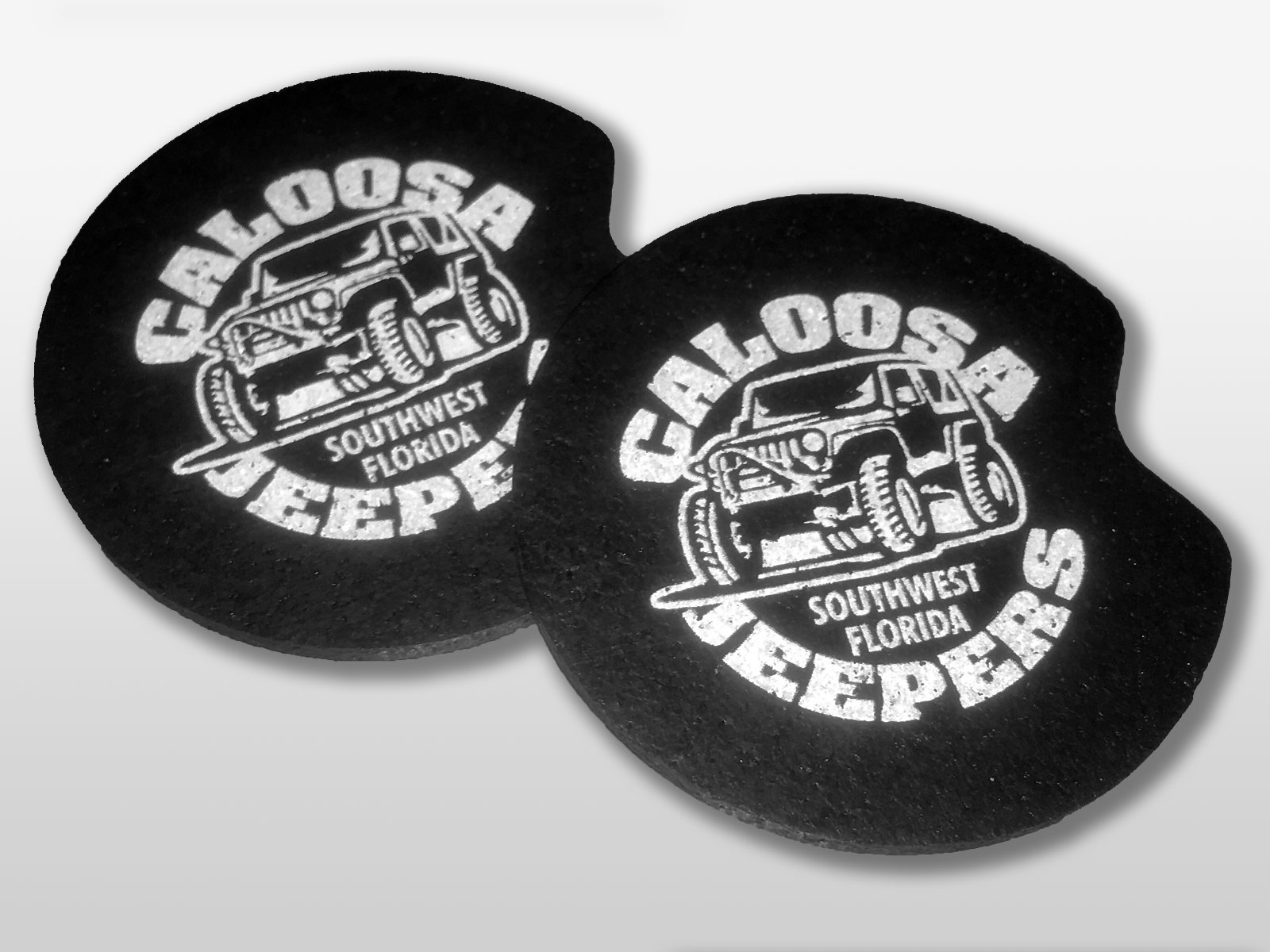 Caloosa Jeepers Cupholder Coasters