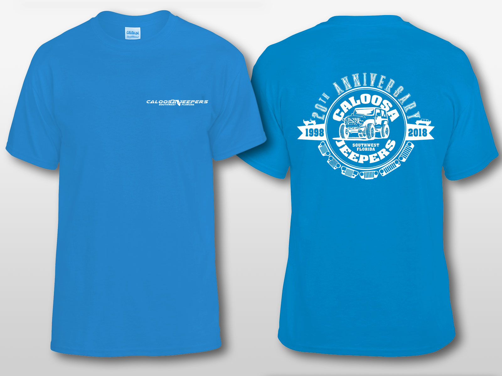 Caloosa Jeepers 20th Anniversary Tshirt