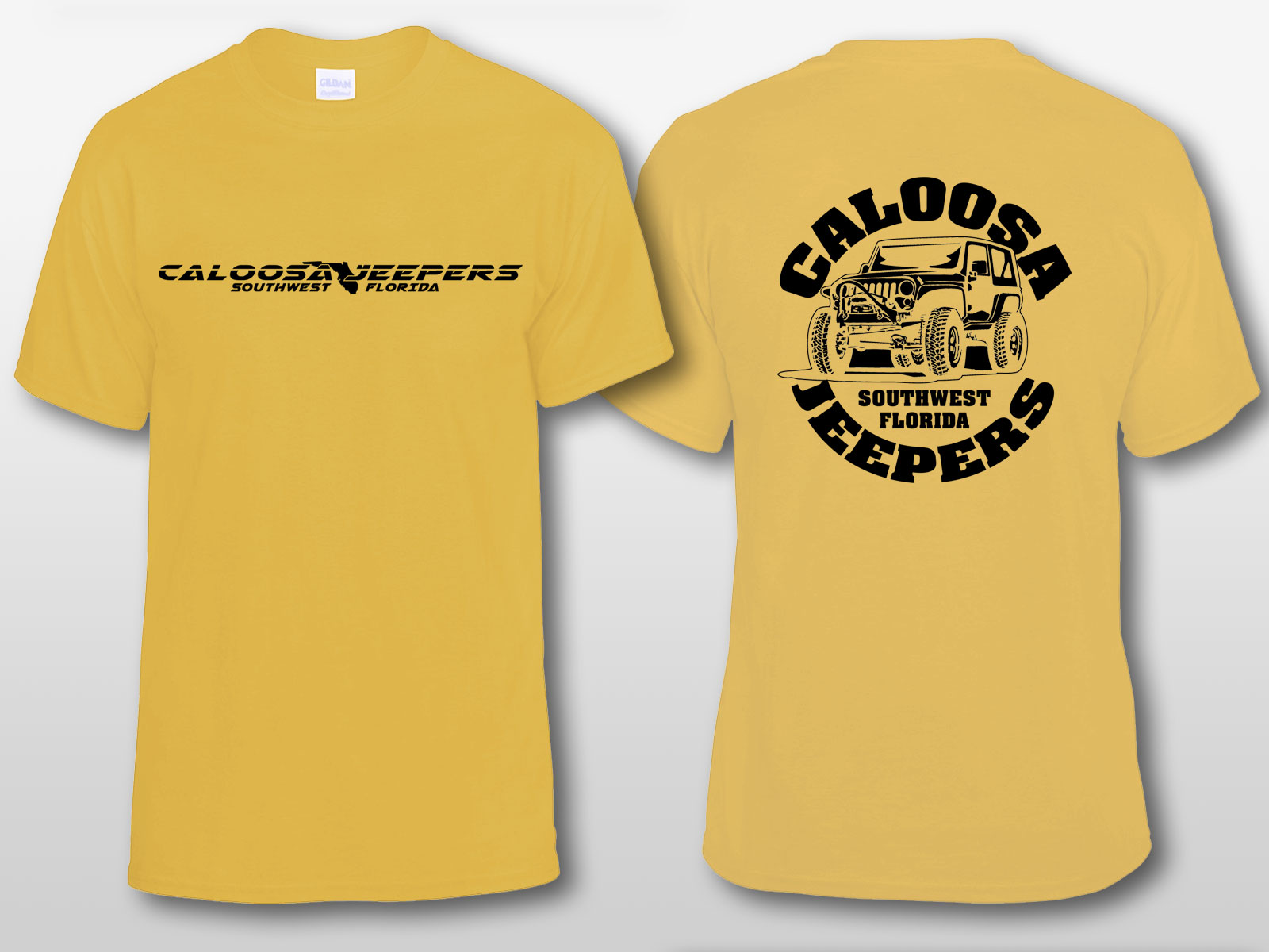 Caloosa Jeepers Logo Sand Tshirt Short Sleeves