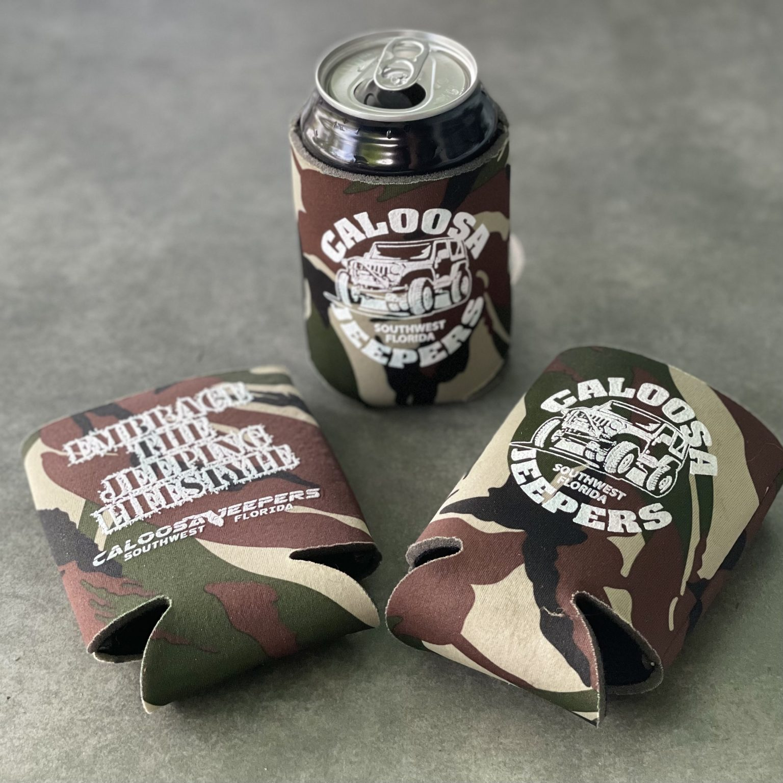 Caloosa Jeepers Can Koozies